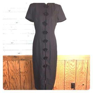 Maggy London Asian inspired sheath dress 8 #273